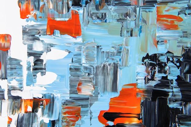 Papel de parede de fundo com pintura texturizada, arte abstrata com cores misturadas