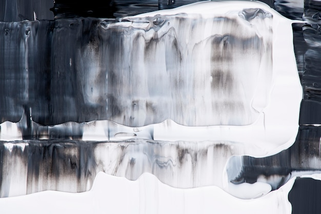 Papel de parede de fundo com textura de tinta, arte abstrata preta em tinta acrílica