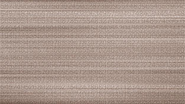 Papel de parede de fundo de textura de padrão de texto de número
