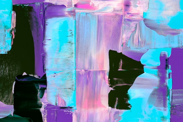 Papel de parede de fundo roxo, textura de tinta abstrata com cores misturadas