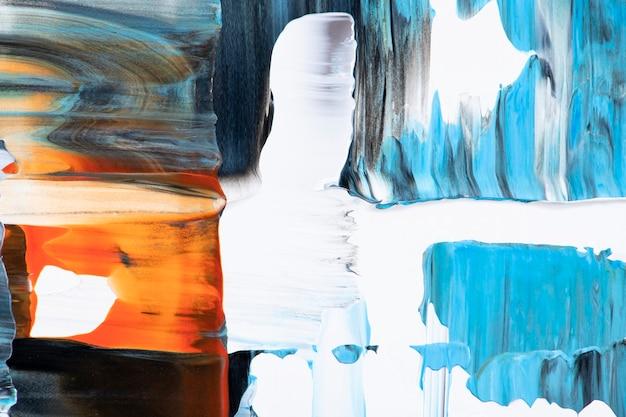 Papel de parede de fundo texturizado colorido, pintura acrílica abstrata