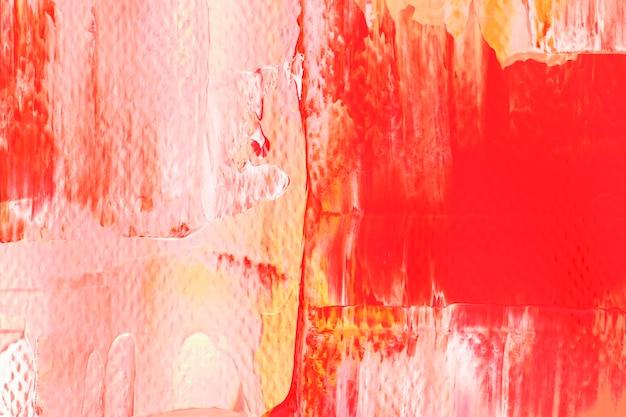 Papel de parede de fundo vermelho, textura de tinta acrílica