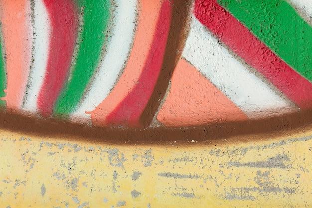 Papel de parede de grafite mural colorido abstrato