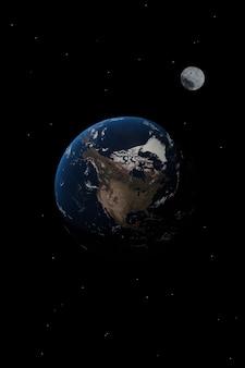 Papel de parede de planeta da américa do norte