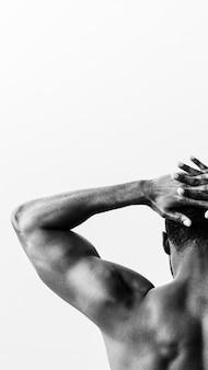 Papel de parede do celular para músculos flexionados das costas