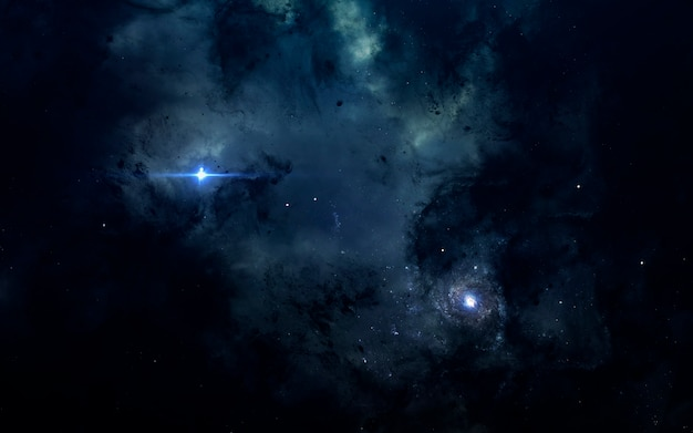 Papel de parede do espaço de ficção científica, nebulosa impressionante em algum lugar no espaço escuro e profundo.