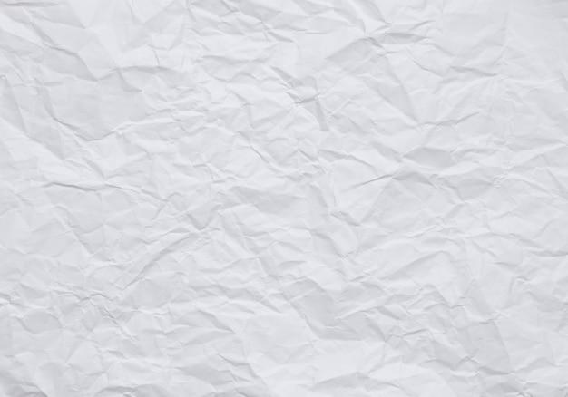 Papel de parede estilo vintage, fundo de papel amassado branco com texturas
