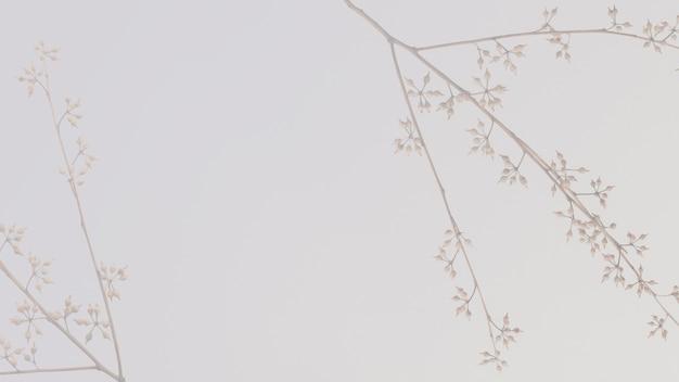 Papel de parede floral em tom de terra