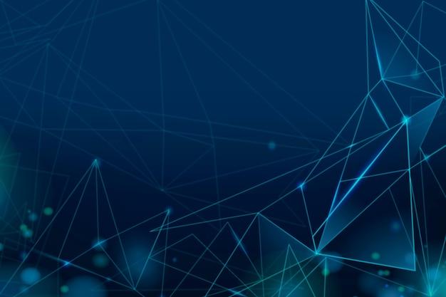 Papel de parede gradiente em grade digital azul marinho