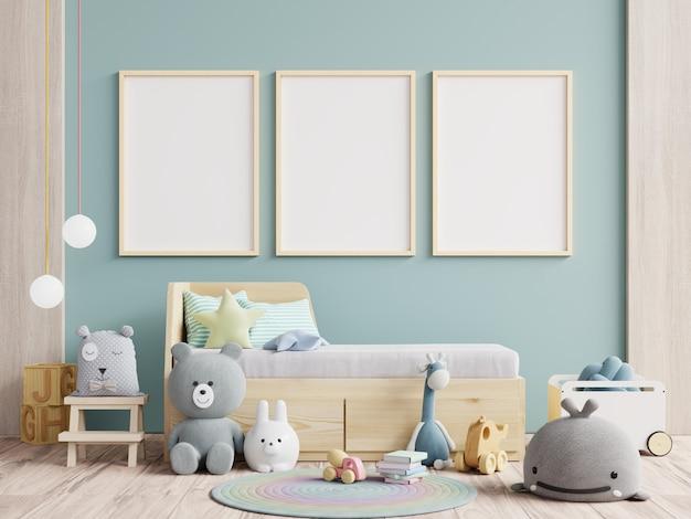 Papel de parede interior da sala de crianças / cartazes no interior do quarto de criança.