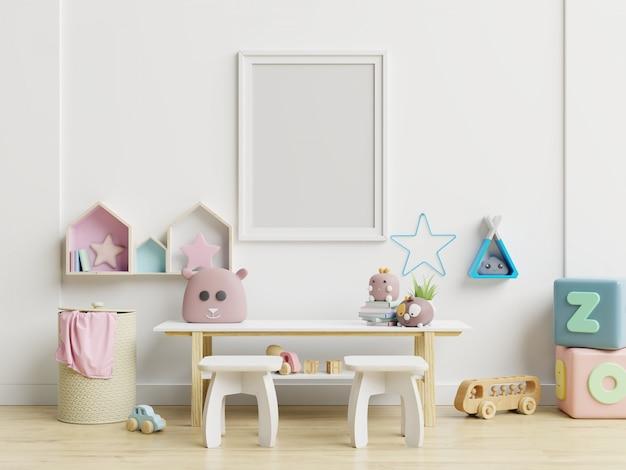Papel de parede interior do quarto das crianças / posteres do modelo no interior do quarto de criança.