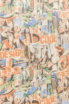 Papel de parede plano de fundo para o jornal com banners coloridos e graffiti