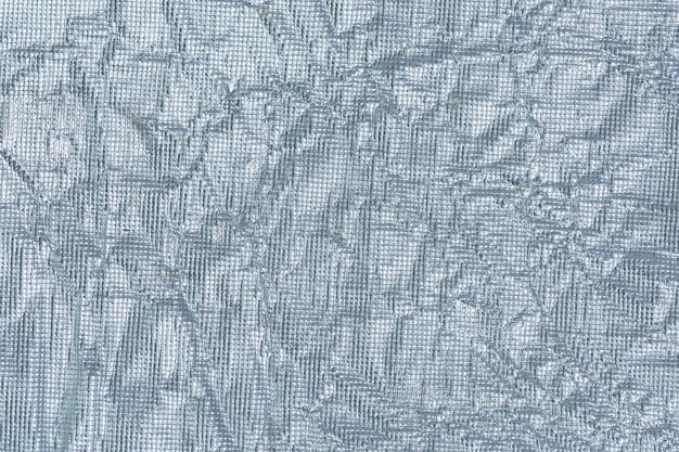 Papel de prata enrugado fundo