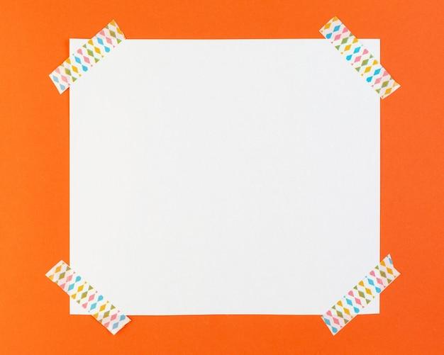 Papel de vista superior com adesivos
