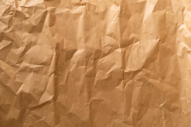 Papel kraft. papel artesanal enrugado.