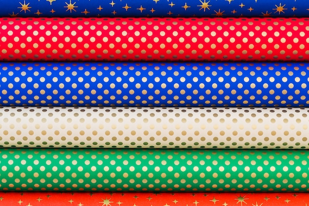 Papel laminado colorido para embrulhar presentes