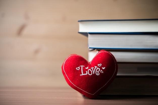 Papel madeira valentines forma de livros