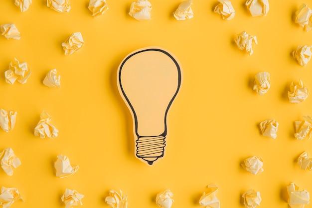 Papel motolite com lâmpada ligh