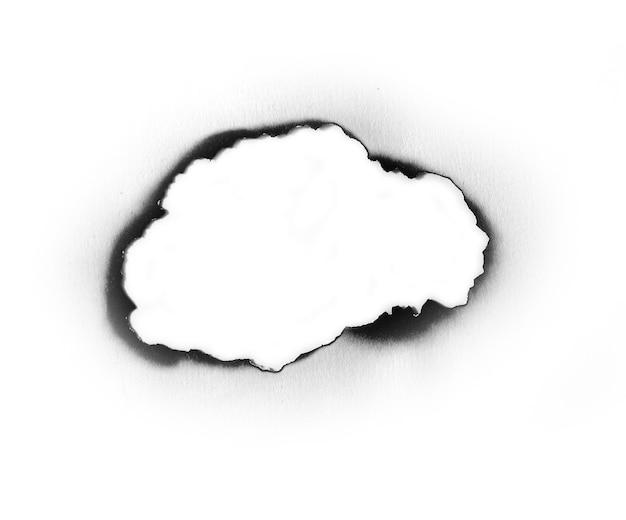 Papel queimado em branco