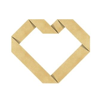 Papel reciclado de origami de coração