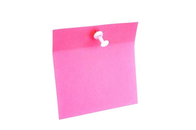 Papel rosa em branco
