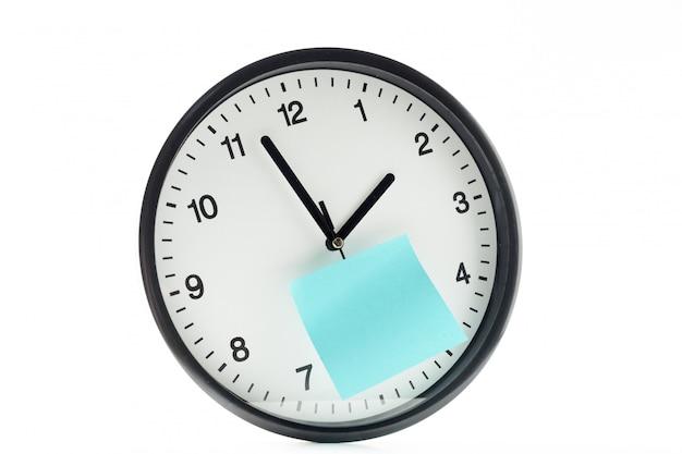 Papel, vara, relógio, aviso, algo, branca