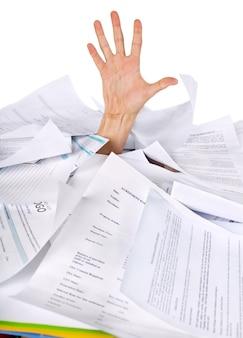 Papelada, documentos, arquivos, papel, papel, trabalho, burocracia, negócios