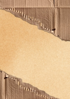 Papelão ondulado rasgado