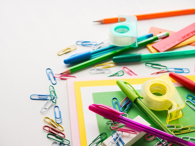 Papelaria colorida escola escrita ferramentas canetas de acessórios