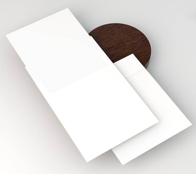 Papelaria corporativa em branco cópia espaço papel