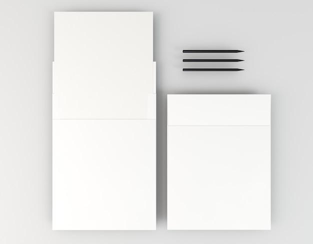 Papelaria corporativa em branco de vários tamanhos