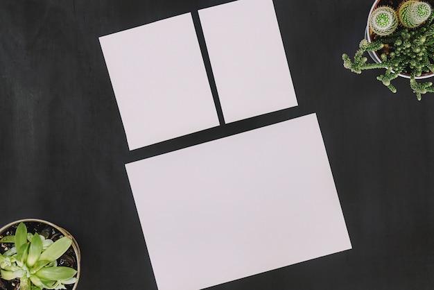 Papelaria floral com três papéis