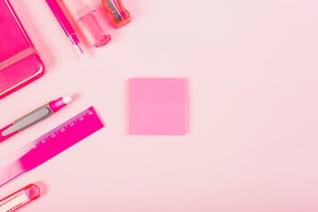 Papelaria rosa