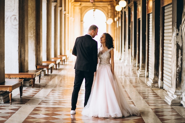 Par casando, em, veneza