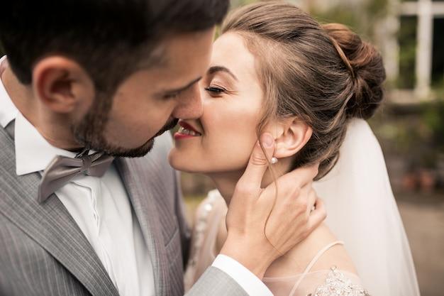 Par casando, ligado, seu, casório