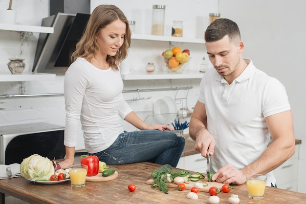 Par, cozinhar, casa
