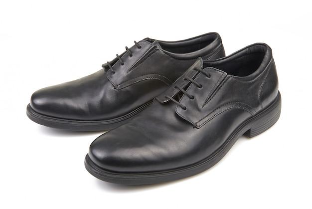 Par de sapatos clássicos masculinos pretos
