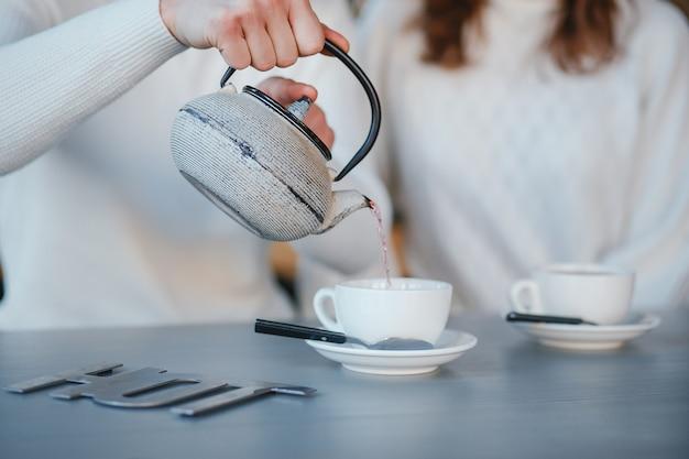 Par, em, um, café