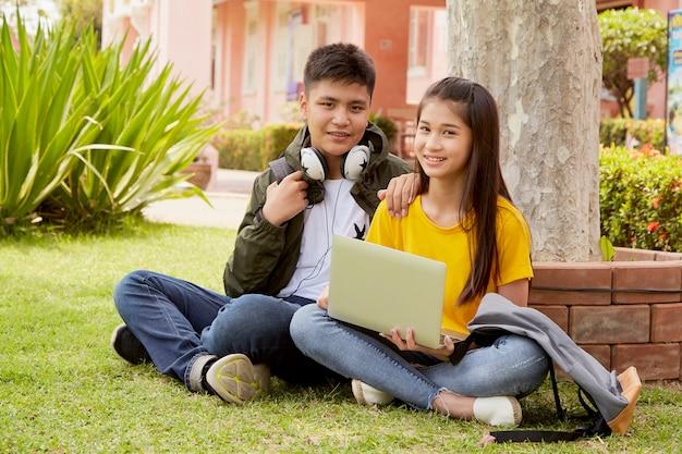 Par estudante, aprendizagem, ao ar livre
