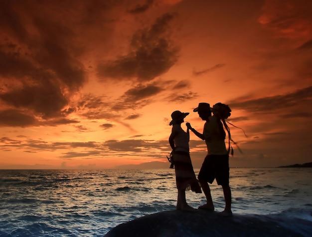Par, pôr do sol