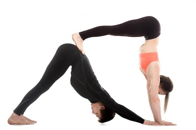 Par saudável que exercita em conjunto