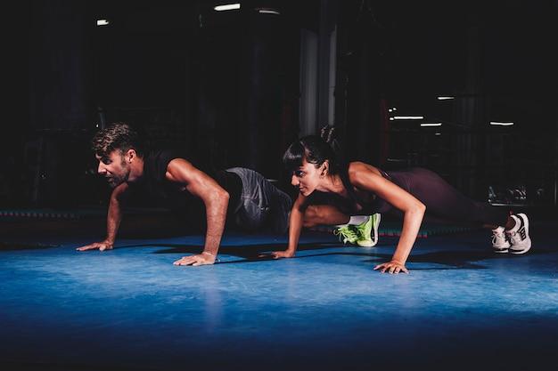 Par, treinamento, em, ginásio
