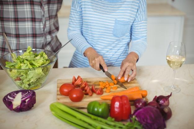 Par velho, preparar, salada vegetal