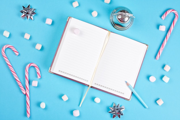 Para fazer ou lista de desejos para férias de inverno mock up