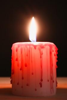Para o halloween. vela de sangue.