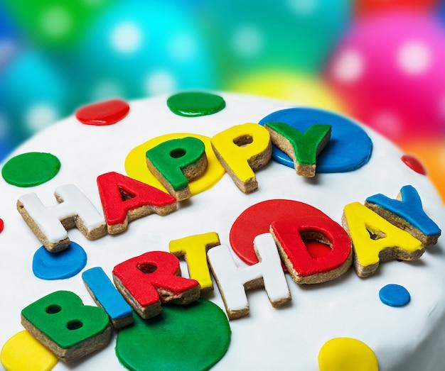 Parabéns feliz aniversário de cookies
