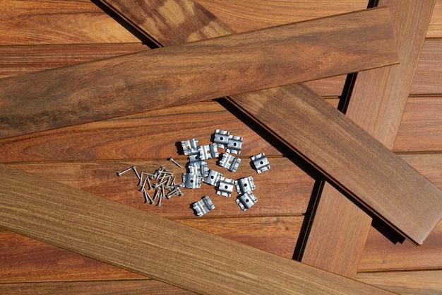 Parafusos de instalação de madeira de convés ipe grampos fixadores