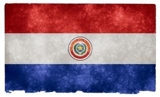 Paraguai bandeira do grunge usado