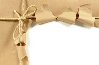 Parcela aberta rasgada ou pacote