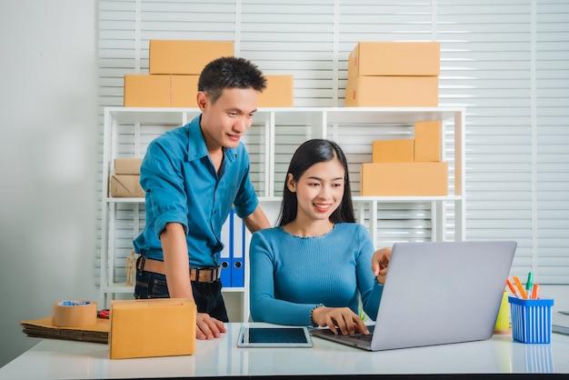 Parceria do trabalho em equipe do empreendedor de pequenas e médias empresas.